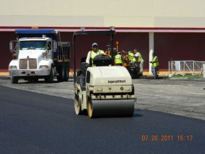 Repaving Asphalt Parking Lot