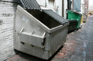 Property owners and commercial business owners should have dumpster corrals on their property.