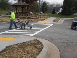 Learn how parking lot striping adds instant curb appeal for your property.