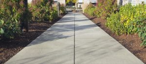 Concrete sealant creates a smooth concrete sidewalk